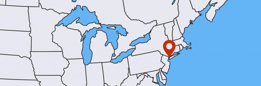 Location of New York City.