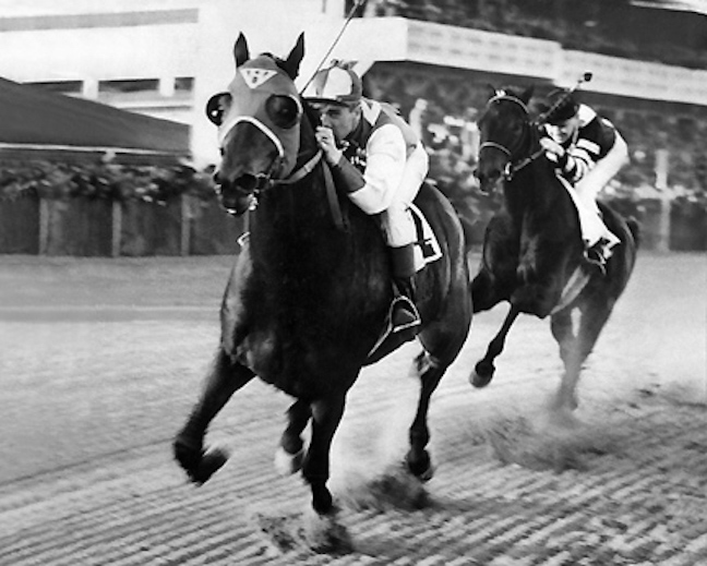Seabiscuit beating War Admiral in 1938