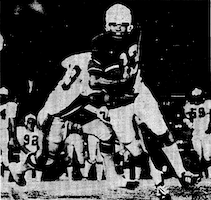 David Hebert with ball in 1970 for Tulane