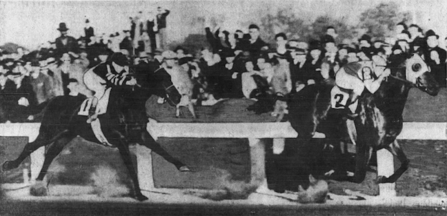 Seabiscuit's lead against War Admiral